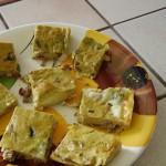 Tortino di zucca e pancetta, veloce e saporito