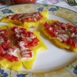 Bruschetta di polenta, un antipasto alternativo
