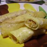 Cannelloni di crepes con zucca e gorgonzola