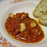 Un primo di pesce semplicissimo, la zuppa di Seppioline