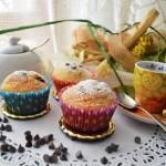 Muffin con gocce di cioccolato al profumo d'arancia