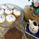 Muffin romantici al cocco e gocce di cioccolato