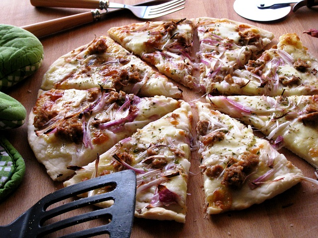 pizza al microonde