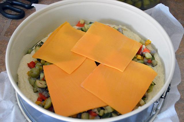 Torta salata con verdure e maionese nell'impasto12