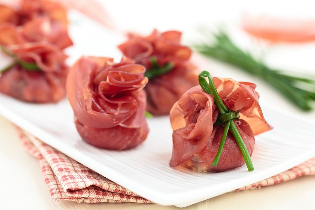 Italian food. Meat appetizers for holidays.