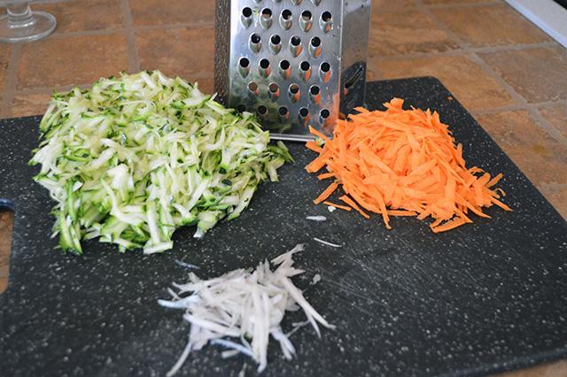 Pasta con zucchine e carote 2