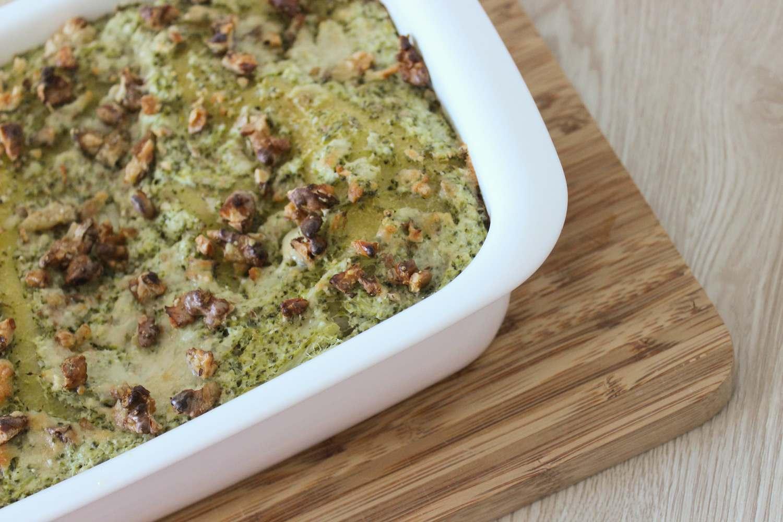 Lasagne bianche con broccoli e noci