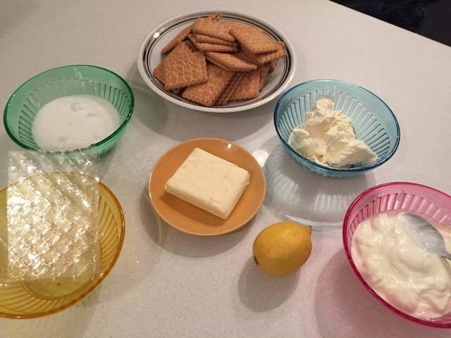 ingredienti cheesecake al limone