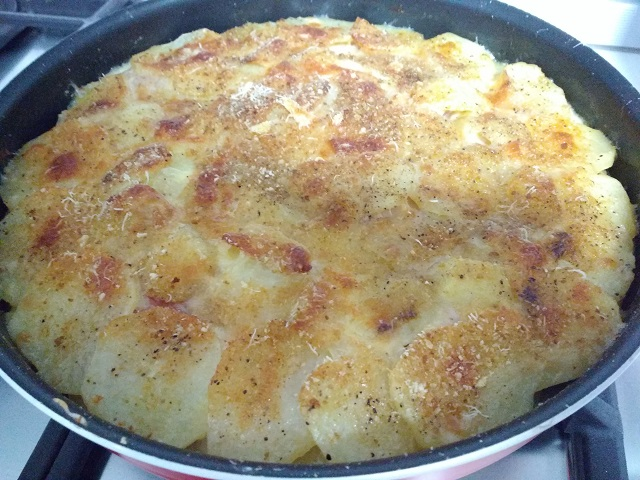 preparazione parmigiana di patate 9