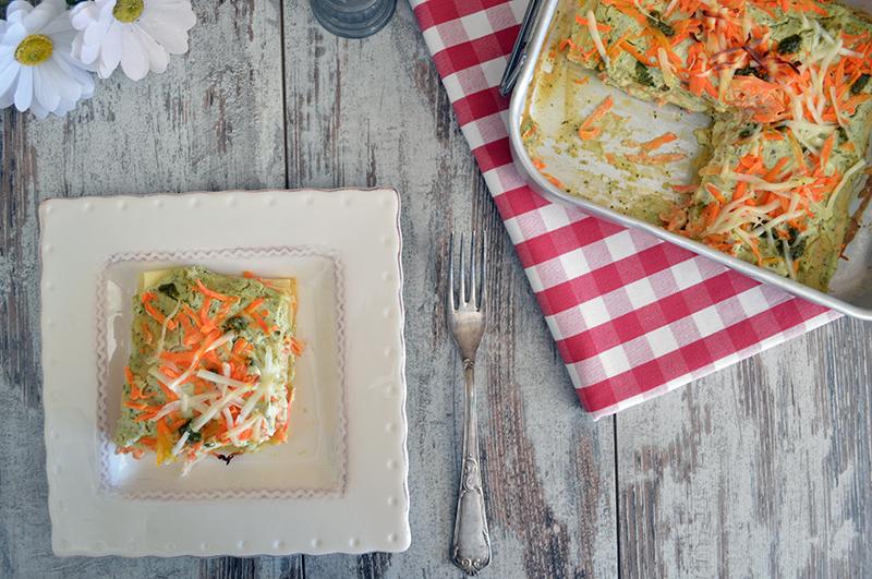 lasagne con pesto e carote