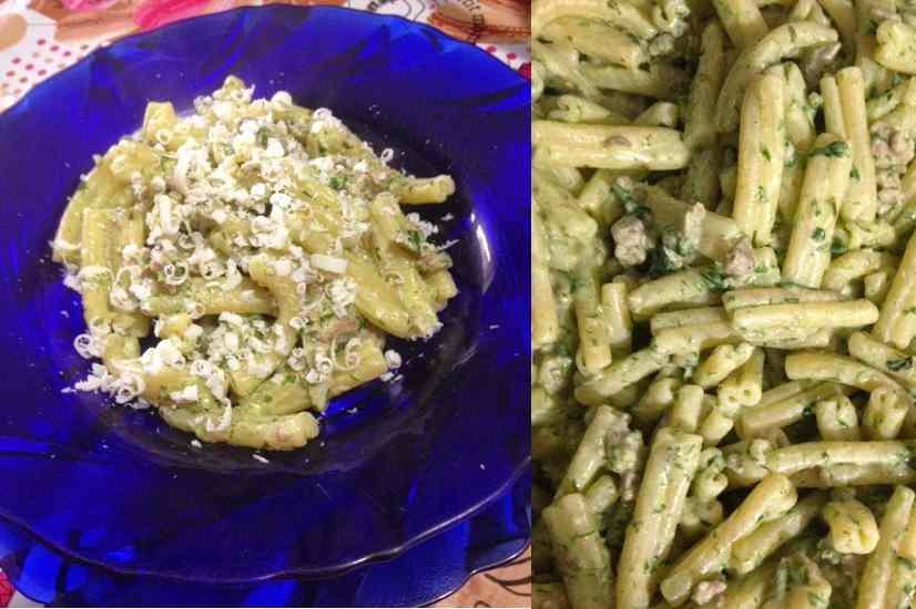 casarecce con spinaci e salsiccia