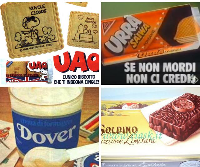 cibo degli anni 80