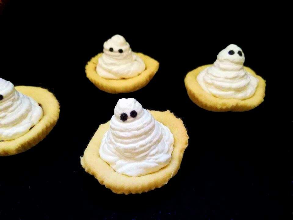 crostatine fantasma halloween