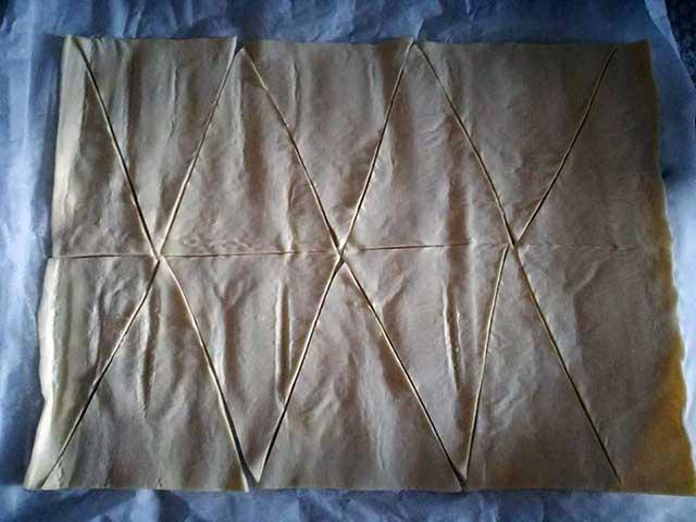 Cornetti di pasta sfoglia veloci