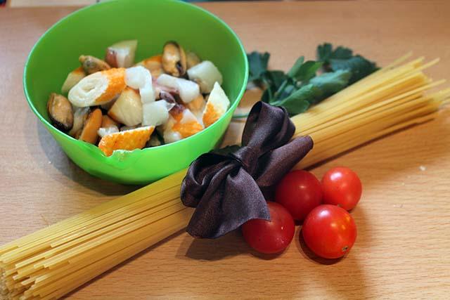 ingredienti pasta allo scoglio