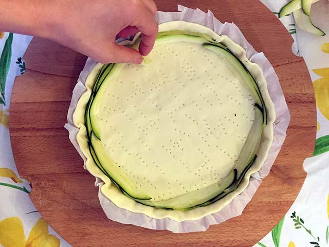 disporre le zucchine