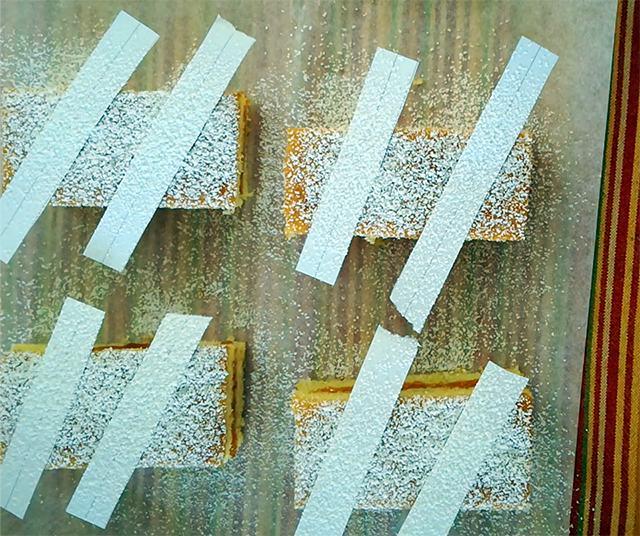strisce di zucchero