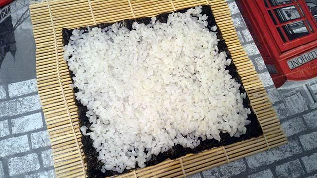 inizio preparazione hosomaki