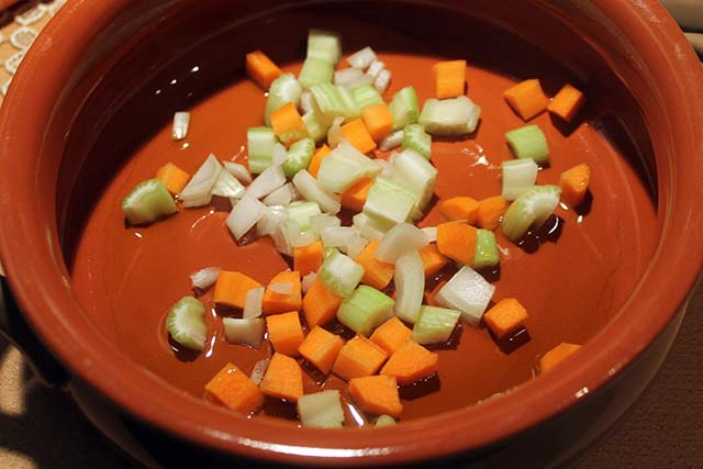 verdure che soffriggono