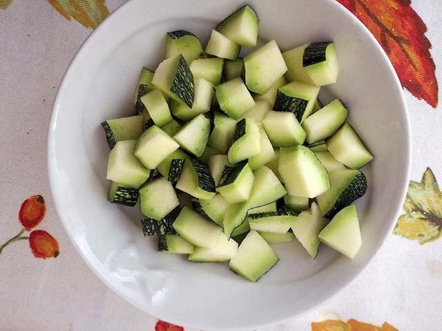 zucchine a cubetti