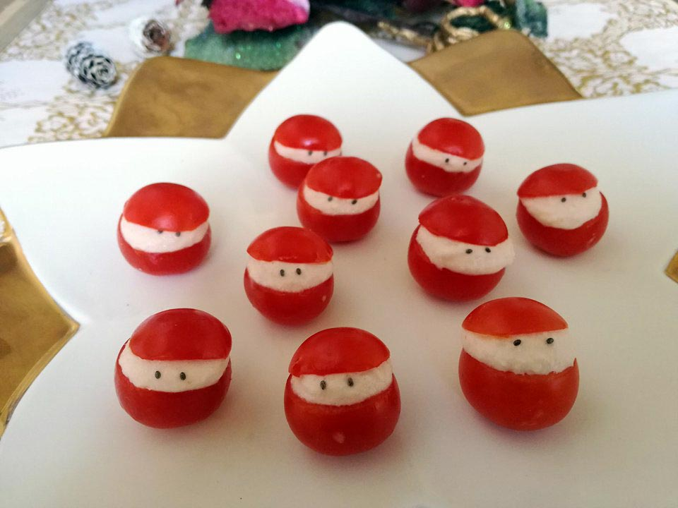 Pomodorini Babbo Natale, perfetti per i bambini