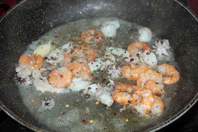 pesce in cottura