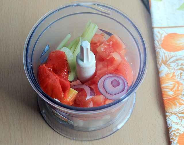 verdure nel mixer