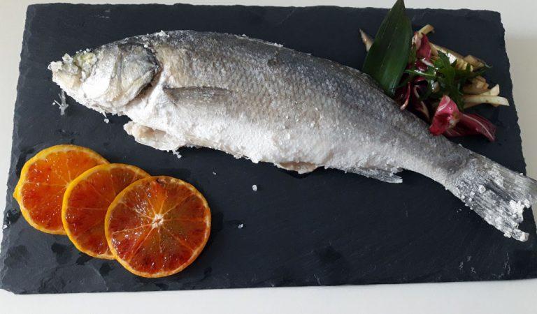 Branzino al sale, un secondo di pesce