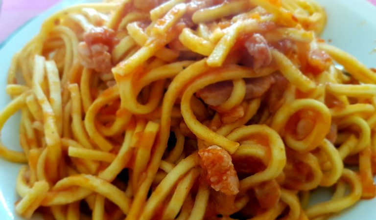 Pasta all'amatriciana, ricetta originale