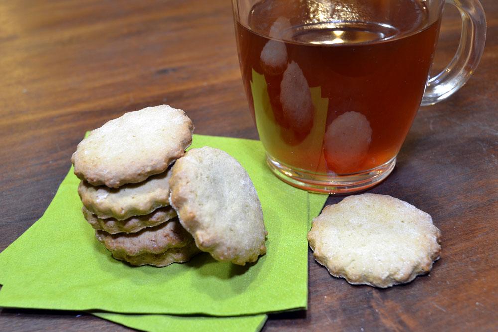 biscotti al the matcha
