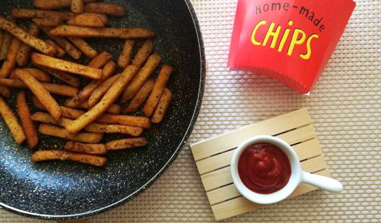Patatine in padella, senza fritto e senza forno